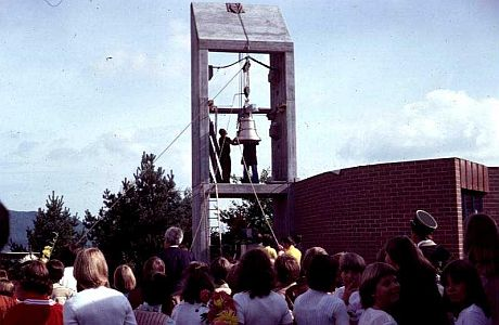 Glockenaufzug im Kirchlichen Zentrum Lee am 10. September 1978. Foto: Ernst Frey