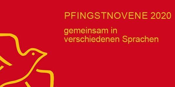 Stilisierte Taube, Logo Pfingstnovene 2020