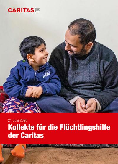 Plakat Flüchtlingssonntag mit Vater und Kind