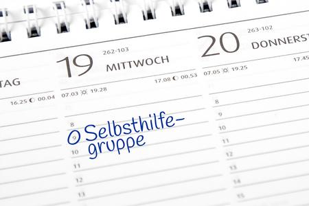 Kalendereintrag Selbsthilfegruppe
