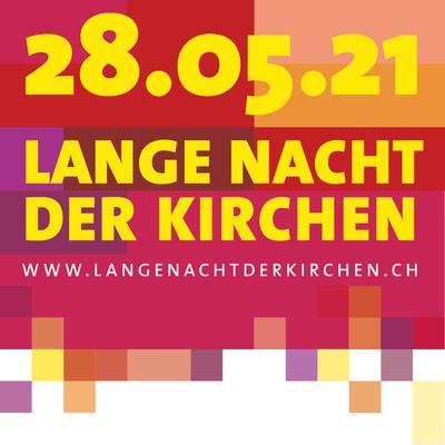 Farbiges Logo der Langen Nacht der Kirchen