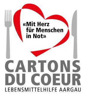 Mit Herz für Menschen in Not - Logo der Organisation Cartons du Coeur