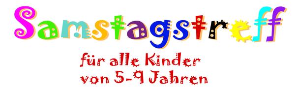 Logo Samstagstreff für Kinder von 5 bis 9 Jahren