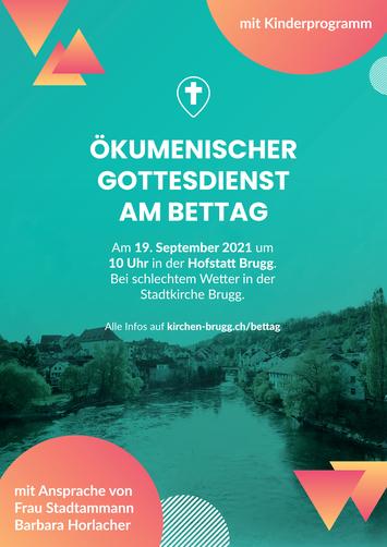 Einladung zum Ökumenischen Gottesdienst am Bettag in Brugg.