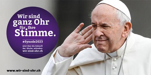 Wir sind ganz Ohr für Ihre Stimme, sagt Papst Franziskus.